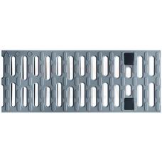 ACO Multiline Seal in lietus kanāla Kompozītrežģis (sudrabpelēks) 0,5m B125 plastmasas