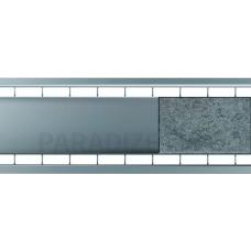 ACO lietus kanāla režģis ar dubultspraugu 1m sedzams ar akmeni