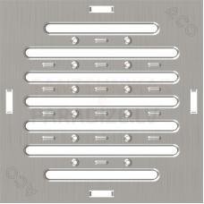 ACO Europoint gūlijas režģis ar atverēm  A15 250x250 cinkots tērauds