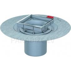 ACO EasyFlow trapa augšdaļa bez režģa ar hidroizolācijas atloku stikla dizainam h=34 – 110 mm