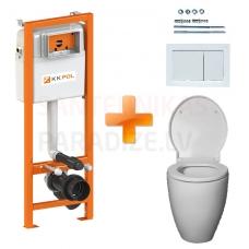 AKCIJA 4 in 1 KAME OVALO SC uz grīdas montējamais tualetes pods ar iebūvējamu rāmi ECO KPOL