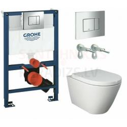 WC iebūvējami tualetes podi ar komplekti