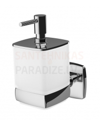 AM PM liquid soap container with holder GEM