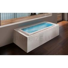 AQUATICA brīvi stāvoša āra/iekštelpu vanna FUSION Lineare HydroRelax 220x120 (240V/60Hz)