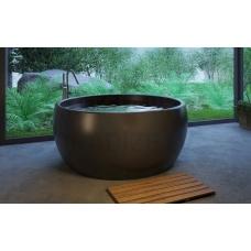 AQUATICA brīvi stāvoša vanna AURA ROUND 160x160 (melna)