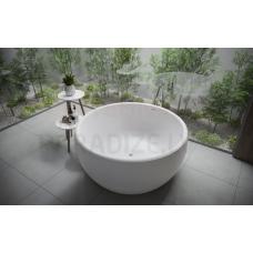 AQUATICA brīvi stāvoša vanna AURA MINI ROUND 145x145 (balta)