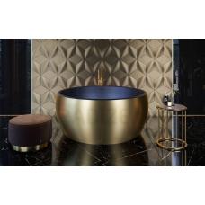 AQUATICA brīvi stāvoša vanna AURA MINI ROUND 145x145 (Yellow Gold-Black)