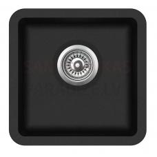 Aquasanita akmens masas virtuves izlietne ARCA 400 Black Metallic 38x38 cm