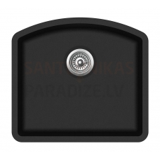 Aquasanita akmens masas virtuves izlietne ARCA 500 Black Metallic 58.5x53.5 cm