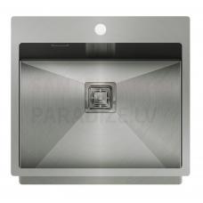 Aquasanita nerūsejošā tērauda virtuves izlietne AIRA 550 55x51 cm