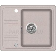 Akmens massas virtuves izlietne BARI 57.5x46 cm, bēšīga (beige granit)