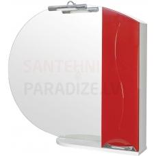 Aqua Rodos Premium  95 (R) Spoguļskapis (sarkans)