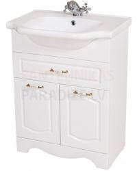 Aqua Rodos Classic  65 шкафчик с раковиной  (белый)