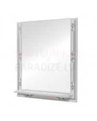 Aqua Rodos Bomond  70 Зеркало с полкой (белый)