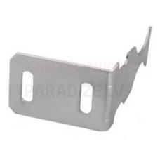 Leņķa āķis-stiprinājums alumīnija radiatora montāžai (1.5 mm biezums) balts