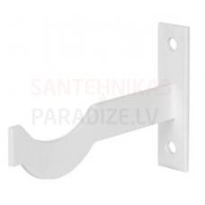 Kronšteins čuguna radiatora montāžai L=130mm G=3mm (balts)