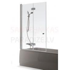 Baltijos Brasta vannas siena BERTA caurspīdīgs stikls 150x100