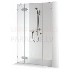 Baltijos Brasta dušas durvis ar papildu sienu IEVA PLUSS caurspīdīgs stikls 190x120