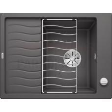 BLANCO akmens masas virtuves izlietne Elon 45S SILGRANIT PuraDur akmens pelēka 65x50