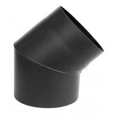 Darco dūmvadu melnā tērauda skursteņa neregulejams līkums 45⁰ DN80