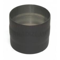 Darco dūmvadu melnā tērauda skursteņa mufe DN80 āra-āra
