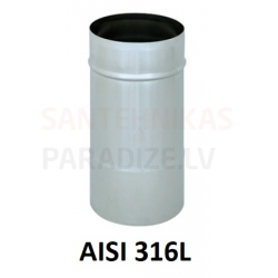 Nerūsējošā tērauda dūmvadu viensienu sistēma (AISI 316L)