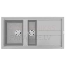 ELLECI akmens masas virtuves izlietne BEST 475 Aluminium 100x51 cm