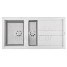 ELLECI akmens masas virtuves izlietne BEST 475 Bianco 100x51 cm