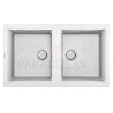 ELLECI akmens masas virtuves izlietne BEST 450 Balts 86x51 cm