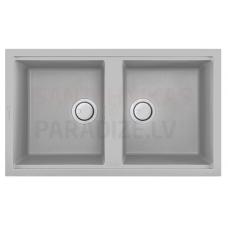 ELLECI akmens masas virtuves izlietne BEST 450 Aluminium 86x51 cm