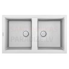 ELLECI akmens masas virtuves izlietne BEST 450 Bianco 86x51 cm