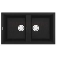 ELLECI akmens masas virtuves izlietne BEST 450 Nero 86x51 cm