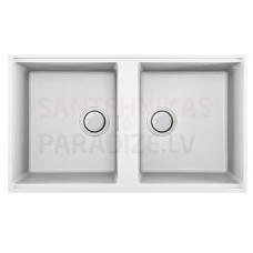 ELLECI akmens masas virtuves izlietne BEST 450 UNDERMOUNT Balts 83.6x48.8 cm