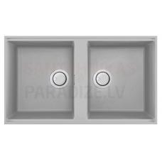 ELLECI akmens masas virtuves izlietne BEST 450 UNDERMOUNT Aluminium 83.6x48.8 cm