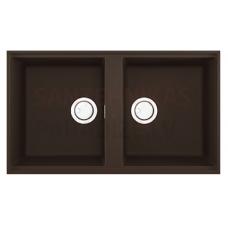 ELLECI akmens masas virtuves izlietne BEST 450 UNDERMOUNT Espresso 83.6x48.8 cm