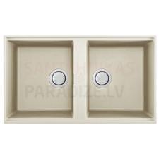ELLECI akmens masas virtuves izlietne BEST 450 UNDERMOUNT Bianco Antico 83.6x48.8 cm
