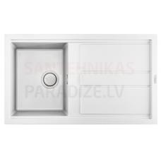 ELLECI akmens masas virtuves izlietne BEST 400 Balts 86x51 cm