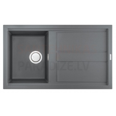 ELLECI akmens masas virtuves izlietne BEST 400 Titanium 86x51 cm