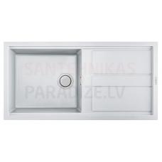 ELLECI akmens masas virtuves izlietne BEST 480 Bianco 100x51 cm