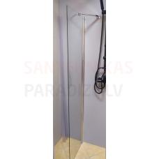 ETOVIS dušas siena ET-106 hroms + caurspīdīgs stikls 48x190
