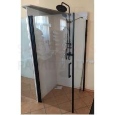 ETOVIS dušas kabīne ET-105 melns matēts + caurspīdīgs stikls 90x90x190