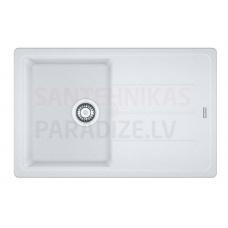 FRANKE akmens masas virtuves izlietne BASIS Balts 78x50 cm
