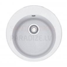 FRANKE akmens masas virtuves izlietne ar pogu RONDA Balts 51x51 cm