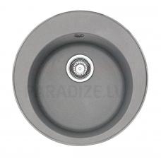 FRANKE akmens masas virtuves izlietne ar pogu RONDA Pelēks 51x51 cm