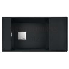 FRANKE akmens masas virtuves izlietne FRESNO Melns mattēts 87.7x49.5 cm