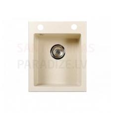 Akmens massas virtuves izlietne RIGO 40.5x48.5cm, bēšīga (beige granit)