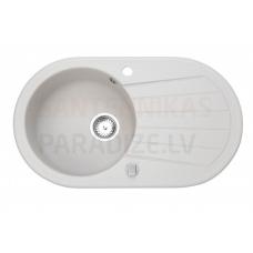 Akmens massas virtuves izlietne WERBENA 20, 78x46.5cm, bēšīga (beige granit)