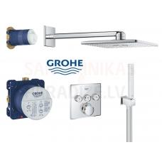 GROHE zemapmetuma termostata jaucējkrāns ar dušas komplekts SmartControl Perfect Rainshower 310