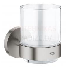 GROHE glāze ar turētāju Essentials New (Supersteel)