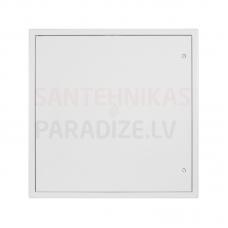 HACO metāla revīzijas lūka ar atslēgu RDK 400x600 baltā krāsā